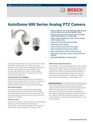 AutoDome 600 Series Analog PTZ Camera