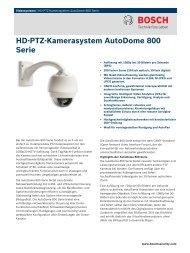HD-PTZ-Kamerasystem AutoDome 800 Serie - Videor