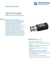 GEC-PVTC-MSP - DATASHEET - HQ - UTC Fire & Security