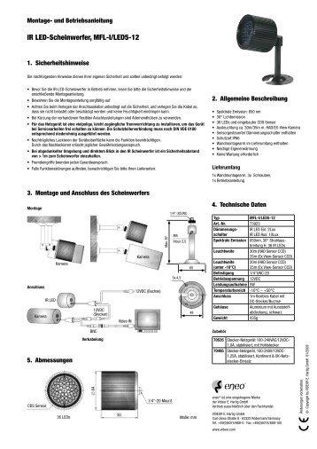 IR LED-Scheinwerfer, MFL-I/LED5-12 - Belcom