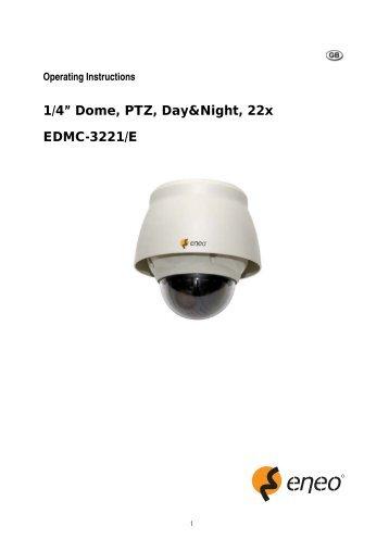 """1/4"""" Dome, PTZ, Day&Night;, 22x EDMC-3221/E - eneo Home EN"""