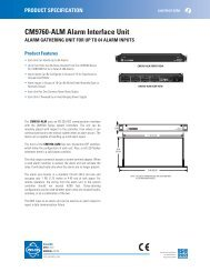CM9760-ALM Alarm Interface Unit