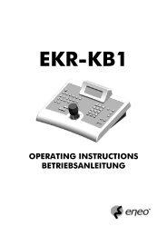 OPERATING INSTRUCTIONS BETRIEBSANLEITUNG - Belcom