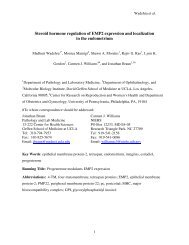 Steroid hormone regulation of EMP2 expression and localization in ...