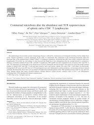 Commensal microbiota alter the abundance and TCR ...