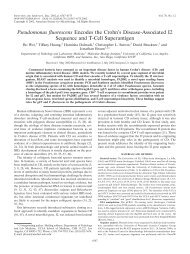 Pseudomonas fluorescens Encodes the Crohn's Disease ...