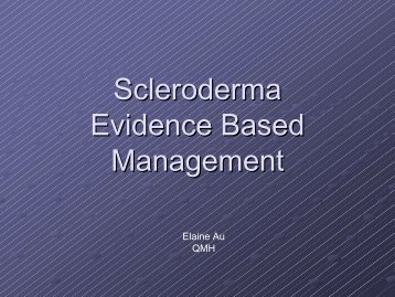 Scleroderma Evidence Based Management