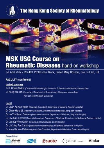 2012 MSK USG course.pdf - The Hong Kong Society of Rheumatology