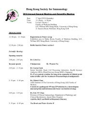 Hong Kong Society for Immunology - The Hong Kong Society of ...