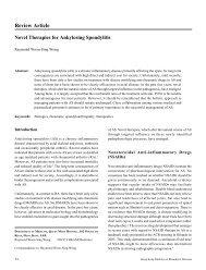 Novel Therapies for Ankylosing Spondylitis - The Hong Kong ...