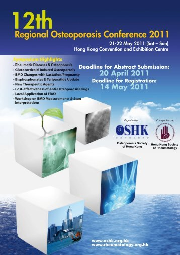 Regional Osteoporosis Conference 2011 - The Hong Kong Society ...