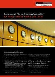 Securepoint Network Access Controller für Hotels: einfach, flexibel ...