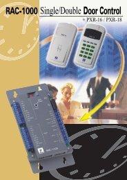 RAC-1000 Single/Double Door Control - SecureTech