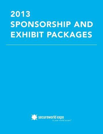 download sponsorship packages - SecureWorld