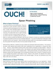 Spear Phishing - Securing the Human
