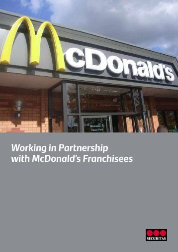 Working in Partnership with McDonald's Franchisees - Securitas