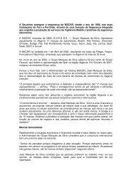 A Securitas assegura a segurança da MSCAR, desde o ano de ...
