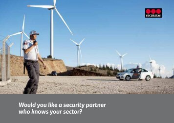 Would you like a security partner who knows your sector? - Securitas