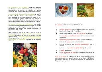 Direction de la santé - Sécurité alimentaire