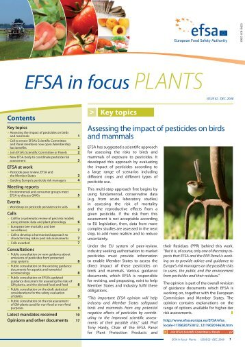 In Focus — Plants, Issue 2 - European Food Safety Authority - Europa