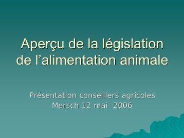 présentation législation chambre agri 12 mai 06 - Sécurité alimentaire
