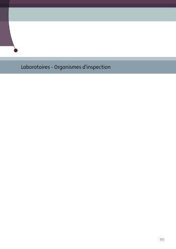 Laboratoires - Organismes d'inspection - Sécurité alimentaire
