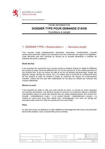 Dossier Type - Sécurité alimentaire
