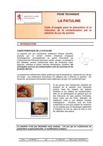 LA PATULINE - Sécurité alimentaire
