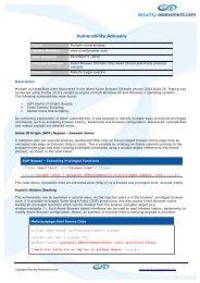 Avant Multiple Vulnerabilities - Security Assessment