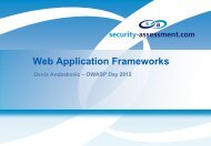 The Dos and Don'ts of Web Application Frameworks - Security ...