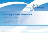 Abusing Firefox Extensions - Def Con