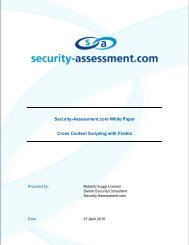 Cross Context Scripting with Firefox (PDF) - Security Assessment