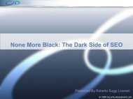 None More Black: The Dark Side of SEO - Security Assessment