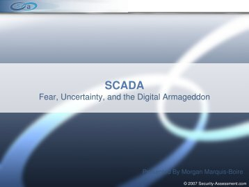 scada - Security Assessment