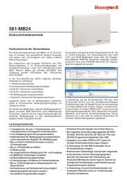 Produktinformation Einbruchmelderzentrale 561-MB24, Art. 012830