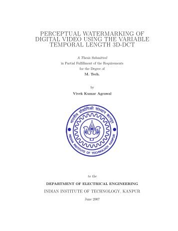 perceptual watermarking of digital video using the variable temporal ...