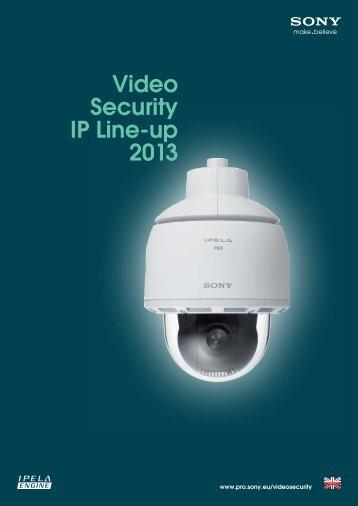 Video Security IP Line-up 2013