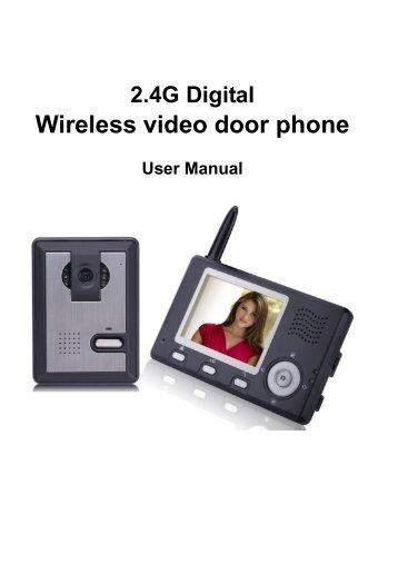 Wireless video door phone 2x 3. 5 inch monitors 300m range photo.