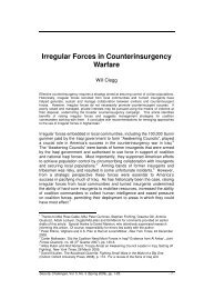 Irregular Forces in Counterinsurgency Warfare - Security Challenges