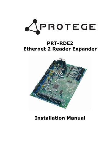 PRT-RDE2 Installer Reference Manual - Securityhelpdesk.com.au