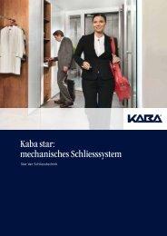 Kaba star: mechanisches Schliesssystem