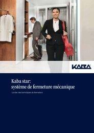 Kaba star: système de fermeture mécanique - secusuisse
