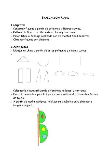 Evaluacion Final 1objetivos Construir Figuras A Partir De