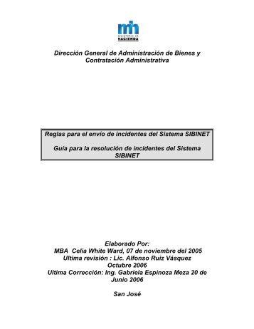 Guia para incidentes - Ministerio de Hacienda