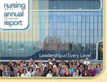 2011 Nursing Annual Report - Kaleida Health