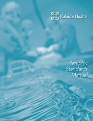 View the Graphic Standards Manual - Kaleida Health