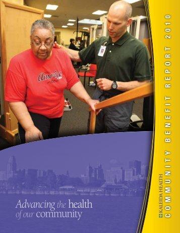Community Benefit Report 2010 - Kaleida Health