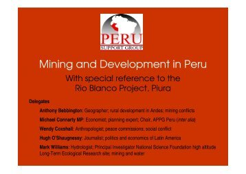 Mining and Development in Peru - School of Environment and ...