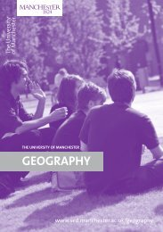 GEOGRAPHY - School of Environment and Development - The ...