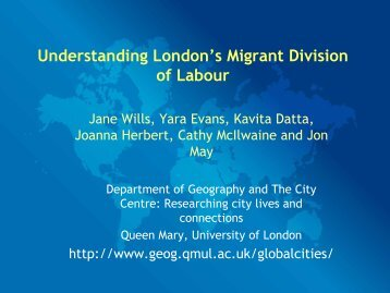 Understanding London's Migrant Division of Labour